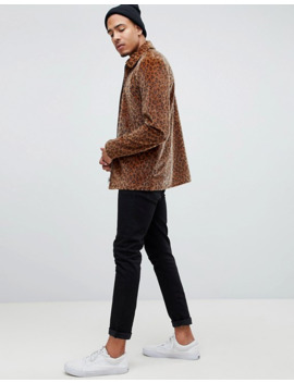 Asos Design Tall Zip Through Coach In Leopard Print by Asos Design