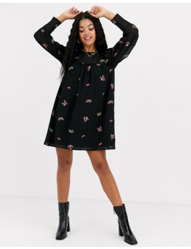 Asos Design Smock Mini Dress With All Over Embroidery by Asos Design