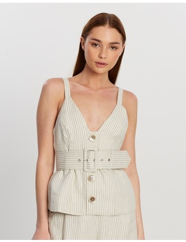 Fitted Bodice Top With Belt by Shona Joy