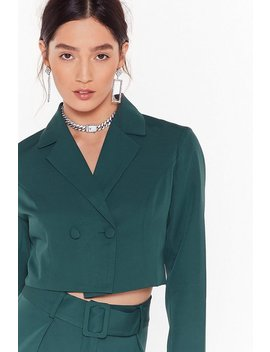 Follow Suit Double Breasted Cropped Blazer by Nasty Gal