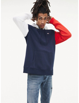 Colour Blocked Regular Fit Hoody by Tommy Jeans