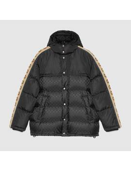 Gg Jacquard Nylon Padded Coat by Gucci