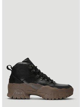 X Stussy Hiking Boots In Black by 1017 Alyx 9 Sm X Stussy