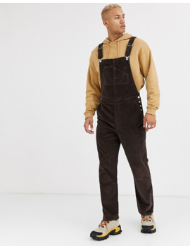 Asos Design Relaxed Dungarees In Cord In Brown by Asos Design