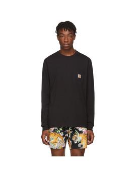 Black Pocket Long Sleeve T Shirt by Carhartt Work In Progress