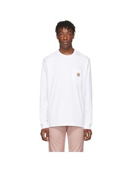 White Long Sleeve Pocket T Shirt by Carhartt Work In Progress