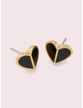 Heritage Spade Small Heart Studs by Kate Spade