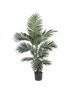 4ft Artificial Kentia Palm Silk Tree In Pot   Nearly Natural by Nearly Natural