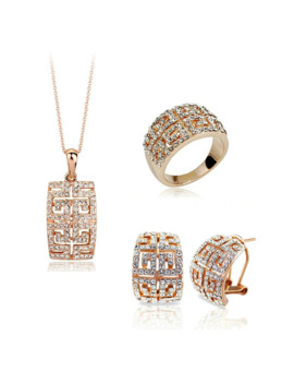 2018 New Design Hot Sale Gold Color Austria Crystal Jewelry Set For Women by Ali Express.Com