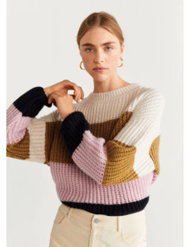 """<Font Style=""""Vertical Align: Inherit;""""><Font Style=""""Vertical Align: Inherit;"""">Colorblock Sweater</Font></Font> by Mango"""