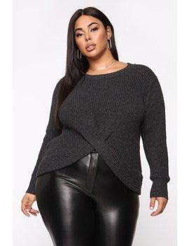 Got It Goin' On Sweater   Charcoal by Fashion Nova