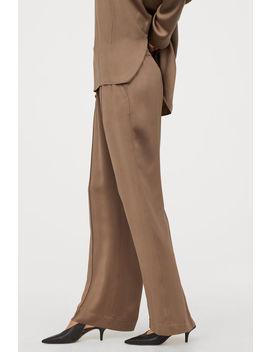 Široké Kalhoty – Směs Hedvábí by H&M