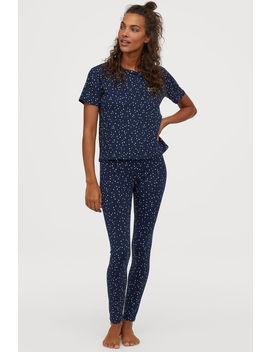 Пижама от трико с принт by H&M