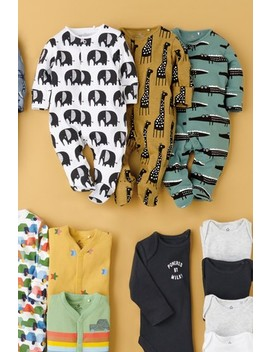 Ochre 3 Pack Character Sleepsuits (0mths 2yrs) by Next