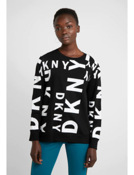 Crew Neck Sideways Logo   Sweatshirt by Dkny