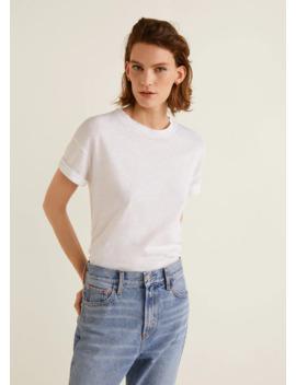 Cotton Linen Blend T Shirt by Mango