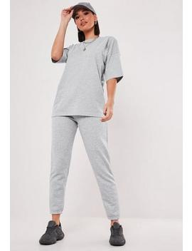 Grey Co Ord T Shirt And Jogger Set by Missguided