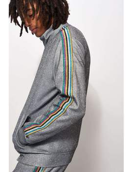 Glitter Metallic Tracktop With Rainbow Taping by Jaded London