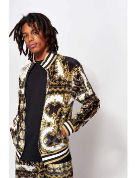 Baroque Scarf Velvet Tracktop by Jaded London