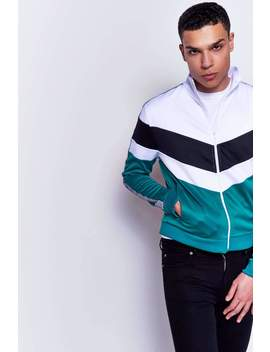 Green Panelled Tracktop by Jaded London