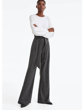 Striped Flannel Trousers by Uterqüe