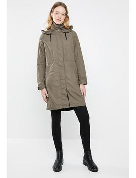 Jessica Long Spring Parka   Taupe by Only