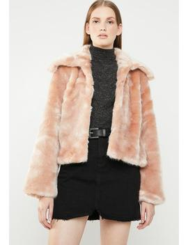Faux Fur Jacket   Pink by Style Republic