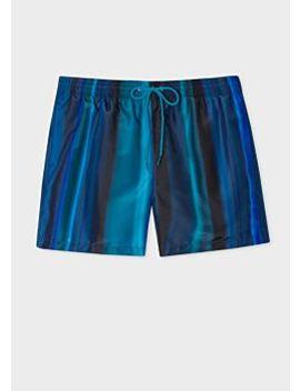Men's Blue 'horizon' Print Swim Shorts by Paul Smith