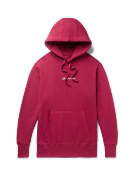 Slim Fit Logo Embroidered Loopback Cotton Jersey Hoodie by Aimé Leon Dore
