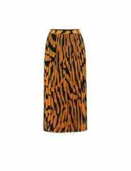 Pleated Zebra Jacquard Midi Skirt by Proenza Schouler