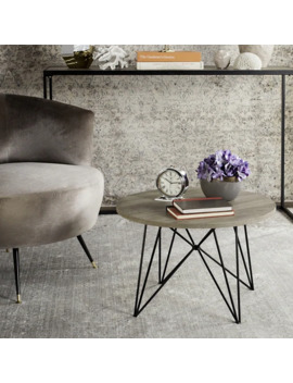 Safavieh Mid Century Modern Vida Light Grey / Black End Table by Safavieh