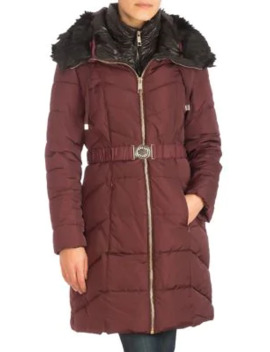 Heavy Faux Fur Puffer Jacket by Guess