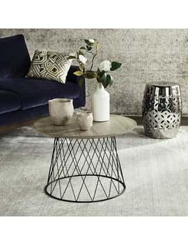 "Safavieh Roper Light Grey / Black End Table   23.6"" X 23.6"" X 15.8"" by Safavieh"