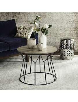 "Safavieh Mid Century Modern Alcott Light Grey / Black End Table   23.6"" X 23.6"" X 18.5"" by Safavieh"