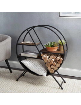 Dillon Black Round Tiered Contemporary Accent Table by Generic