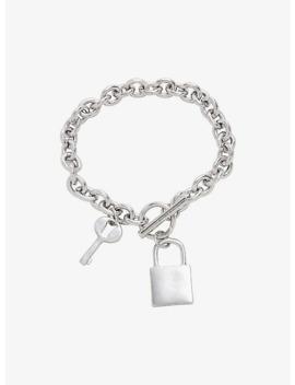 Blackheart Lock &Amp; Key Bracelet by Hot Topic