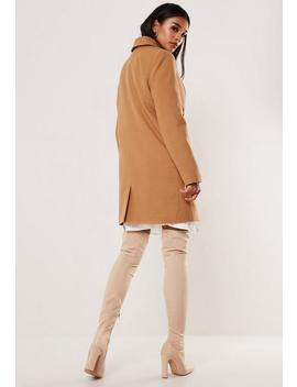 Camel Formal Coat by Missguided