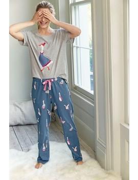 Navy Goose Pyjama Set by Next