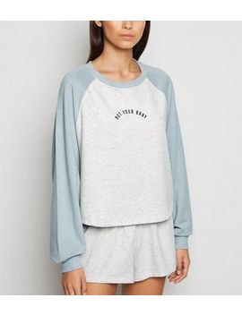 Blue Not Your Baby Slogan Pyjama Set by New Look