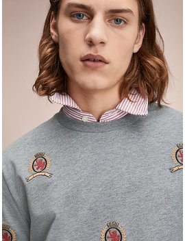 All Over Crest T Shirt by Hilfiger Collection