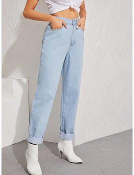 SheinBleach Wash Boyfriend Jeans by Sheinside