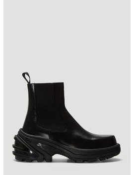 Detachable Vibram Sole Chelsea Boots In Black by 1017 Alyx 9 Sm