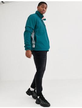 Adidas Skateboarding – Wendbares Fleece Sweatshirt Mit Kurzem Reißverschluss In Schwarz by Asos