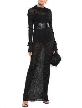 Ribbed Mohair Blend Maxi Dress by Ann Demeulemeester
