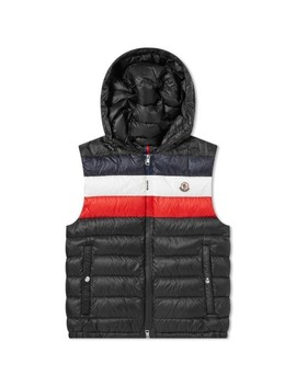 Moncler Timothy Tricolour Stripe Hooded Gilet by Moncler