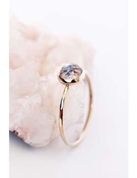 Rose Cut Labradorite 14k Gold Ring, Gold Labradorite Ring, Rose Cut Gemstone Ring, Solitaire Ring, Stacking Ring, Stack Ring by Etsy