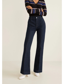 Jeans Flare Cuciture Decorative by Mango