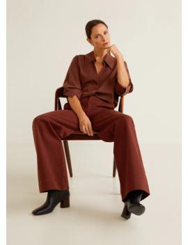 Pantaloni Cotone Biologico by Mango