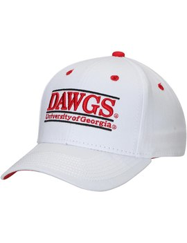 Georgia Bulldogs The Game Dawgs Classic Bar Adjustable Snapback Hat   White by The Game