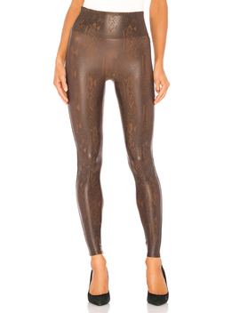 Faux Leather Snakeskin Legging by Spanx